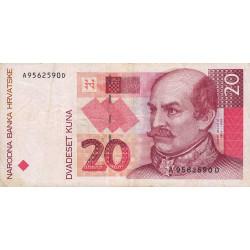 Croatie - Pick 30 - 20 kuna - 31/10/1993 - Etat : TB+