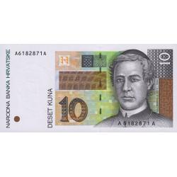 Croatie - Pick 36 - 10 kuna - 15/01/1995 - Etat : NEUF