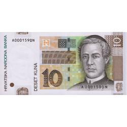 Croatie - Pick 38a - 10 kuna - 2001 - Etat : NEUF