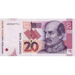 Croatie - Pick 39a - 20 kuna - 07/03/2001 - Etat : NEUF