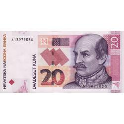 Croatie - Pick 39b - 20 kuna - 09/07/2012 - Etat : NEUF