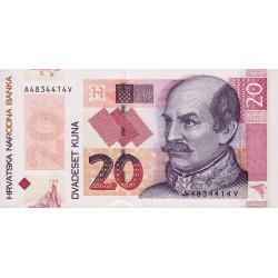 Croatie - Pick 44 - 20 kuna - 30/05/2014 - Commémoratif - Etat : NEUF