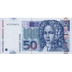 Croatie - Pick 40 - 50 kuna - 07/09/2002 - Etat : NEUF