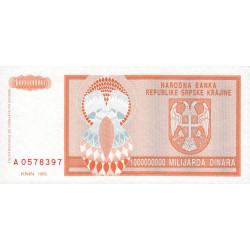 Croatie - Krajina - Pick R17 - 1 milliard de dinars - 1993 - Etat : NEUF