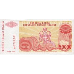 Croatie - Krajina - Pick R21 - 50'000 dinars - 1993 - Etat : NEUF