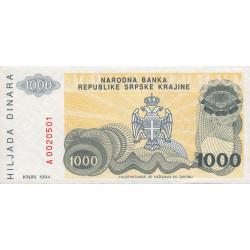 Croatie - Krajina - Pick R30 - 1'000 dinars - 1994 - Etat : NEUF
