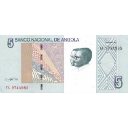 Angola - Pick 151A - 5 kwanzas - 2012 - Etat : NEUF