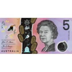 Australie - Pick 62 - 5 dollars - 2016 - Polymère - Etat : NEUF