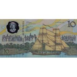 Australie - Pick 49a - 10 dollars - 26/01/1988 - Polymère commémoratif - Etat : NEUF