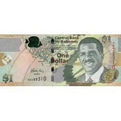 Bahamas - Pick 71A - 1 dollar - Série AU - 2015 - Etat : NEUF