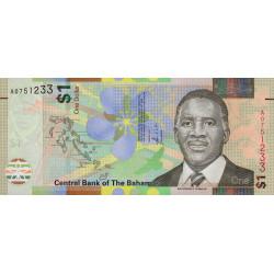 Bahamas - Pick 77 - 1 dollar - Série A - 2017 - Etat : NEUF