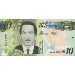 Botswana - Pick 30d - 10 pula - Série AD - 2014 - Etat : NEUF
