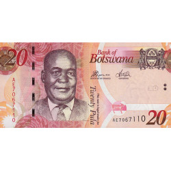 Botswana - Pick 31d - 20 pula - Série AE - 2014 - Etat : NEUF