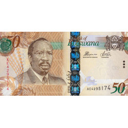 Botswana - Pick 32c - 50 pula - Série AE - 2014 - Etat : NEUF