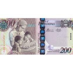 Botswana - Pick 34c - 200 pula - 2014 - Etat : NEUF