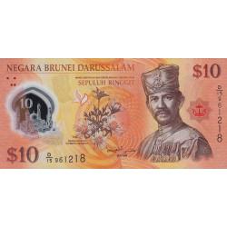 Brunei - Pick 37 - 10 dollars - 2011 - Polymère - Etat : NEUF
