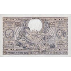 Belgique - Pick 112 - 100 francs ou 20 belgas - 1943 - Etat : NEUF