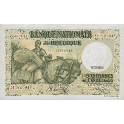 Belgique - Pick 106_5 - 50 francs ou 10 belgas - 03/01/1944 - Etat : SPL+