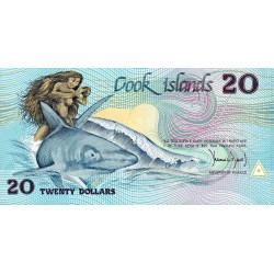 Cook (îles) - Pick 5a - 20 dollars - 1987 - Etat : NEUF