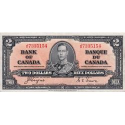 Canada - Pick 59c - 2 dollars - 1937 - Etat : TTB+