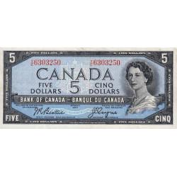 Canada - Pick 77a - 5 dollars - 1954 - Etat : TTB+