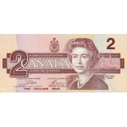 Canada - Pick 94a_1 - 2 dollars - 1986 - Etat : TTB