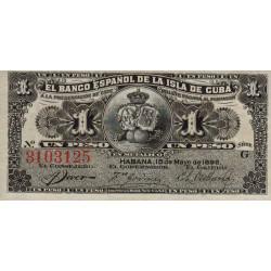 Cuba - Pick 47a - 1 peso - 1896 - Etat : NEUF
