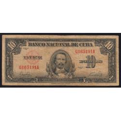 Cuba - Pick 79a - 10 pesos - 1949 - Etat : TB