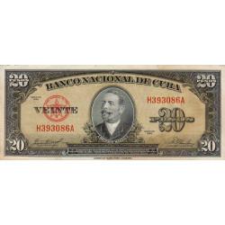 Cuba - Pick 80b - 20 pesos - 1958 - Etat : TTB