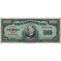 Cuba - Pick 84 - 1'000 pesos - 1950 - Etat : TB+