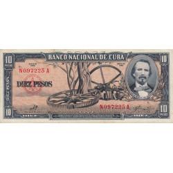 Cuba - Pick 88c - 10 pesos - 1960 - Etat : SUP