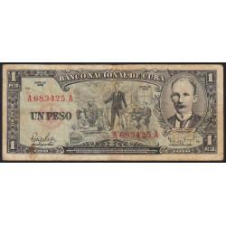 Cuba - Pick 90 - 1 peso - 1959 - Etat : TB