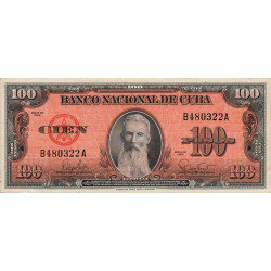 Cuba - Pick 93 - 100 pesos - 1959 - Etat : SPL