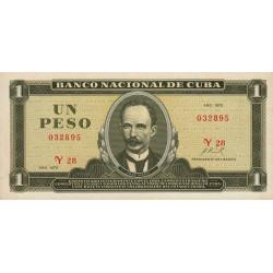 Cuba - Pick 102a - 1 peso - 1972 - Etat : NEUF