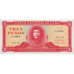 Cuba - Pick 107b - 3 pesos - 1989 - Etat : NEUF