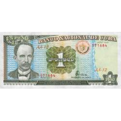 Cuba - Pick 112 - 1 peso - 1995 - Etat : NEUF