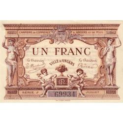 Angers (Maine-et-Loire) - Pirot 8-6b - 1 franc - 1915 - Etat : SPL