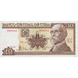 Cuba - Pick 117e - 10 pesos - 2002 - Etat : SPL