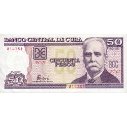 Cuba - Pick 119_3 - 50 pesos - 2001 - Etat : SUP
