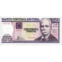 Cuba - Pick 123a - 50 pesos - 2002 - Etat : NEUF