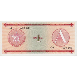 Cuba - Pick FX 1 - 1 peso - 1985 - Série A - Etat : NEUF