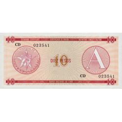 Cuba - Pick FX 4 - 10 pesos - 1985 - Série A - Etat : NEUF
