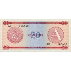 Cuba - Pick FX 5 - 20 pesos - 1985 - Série A - Etat : TTB+