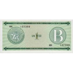 Cuba - Pick FX 6 - 1 peso - 1985 - Série B - Etat : NEUF