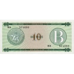 Cuba - Pick FX 8 - 10 pesos - 1985 - Série B - Etat : NEUF