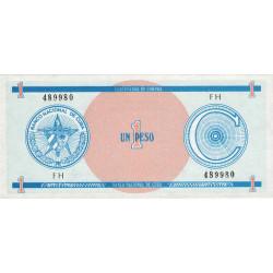 Cuba - Pick FX 11 - 1 peso - 1990 - Série C - Etat : NEUF