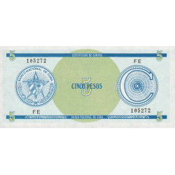 Cuba - Pick FX 13 - 5 pesos - 1990 - Série C - Etat : NEUF