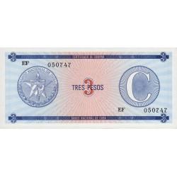 Cuba - Pick FX 20 - 3 pesos - 1990 - Série C - Etat : NEUF