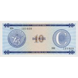 Cuba - Pick FX 22 - 10 pesos - 1990 - Série C - Etat : NEUF