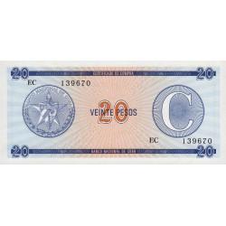 Cuba - Pick FX 23 - 20 pesos - 1990 - Série C - Etat : NEUF